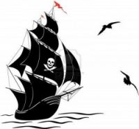 s_13012892-a-silhouette-of-a-old-sail-pirate-ship-and-two-gulls--vector-illustration
